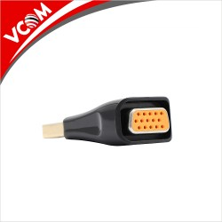 VCom Adapter DisplayPort DP M / VGA F Gold plated