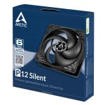 тих вентилатор Arctic 120mm P12 Silent black/black