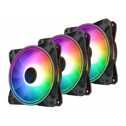 DeepCool Fan Pack 3-in-1 3x120mm CF120 PLUS aRGB with controller