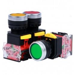 Бутонен превключвател HL-LA38P-11 / self-reset 22mm