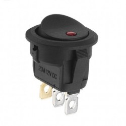 Rocker Switch with Red LED Light On/Off